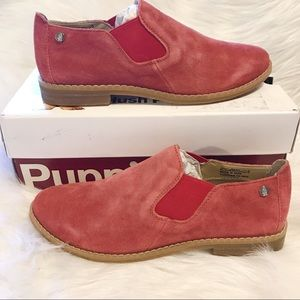 🆕Hush Puppies red 100% suede shoes